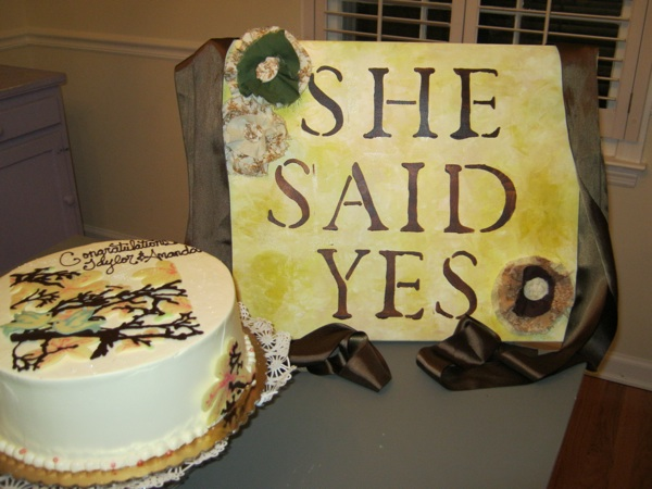 sign and cake