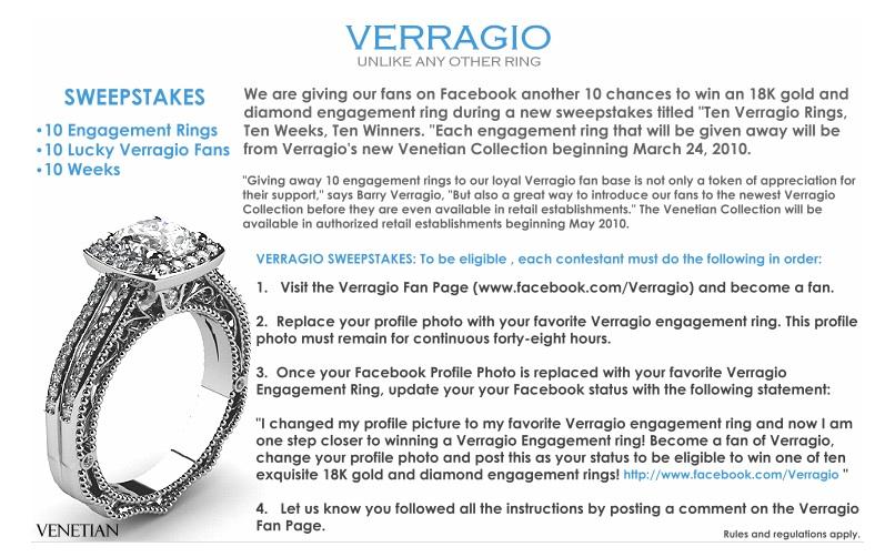 verragio ring sweepstakes