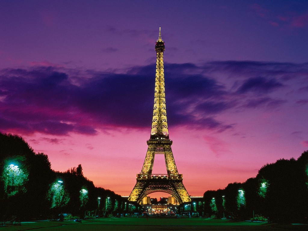 Eiffel Tower at Night, Paris, France pictures