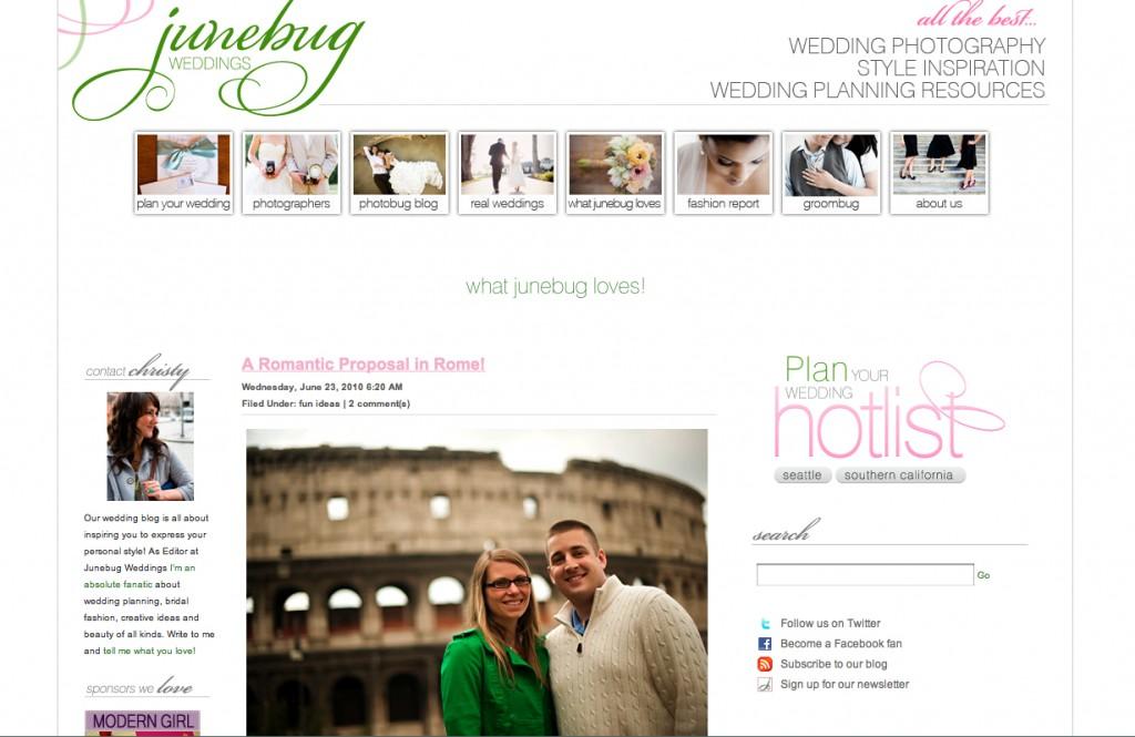 Feature on Junebug Weddings