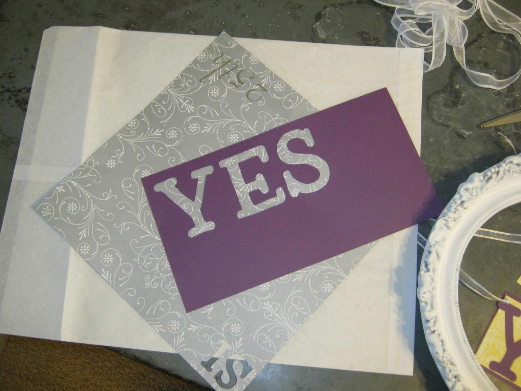 yes letters cut out