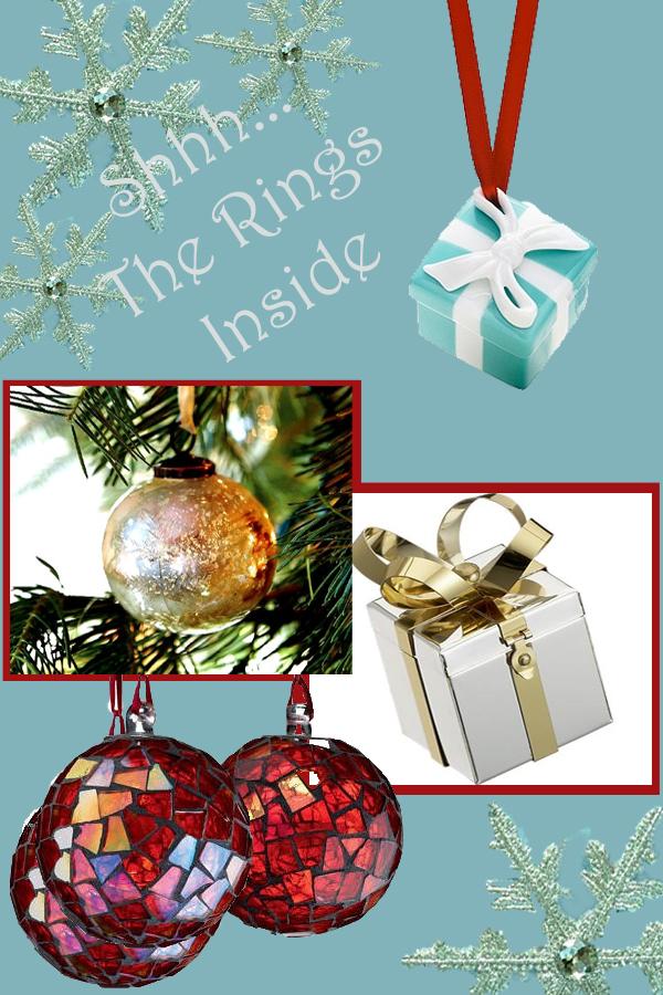 for holiday and fun ring box ornaments - Christmas Ornament Ring Box