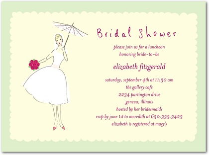 i say shower because it is fun for the bride to have it to hold onto as well as it sets the theme for the shower thank you cards and notes