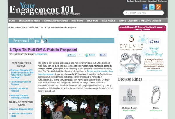 Engagement 101 How To Pull Off A Public Proposal By The Yes Girls