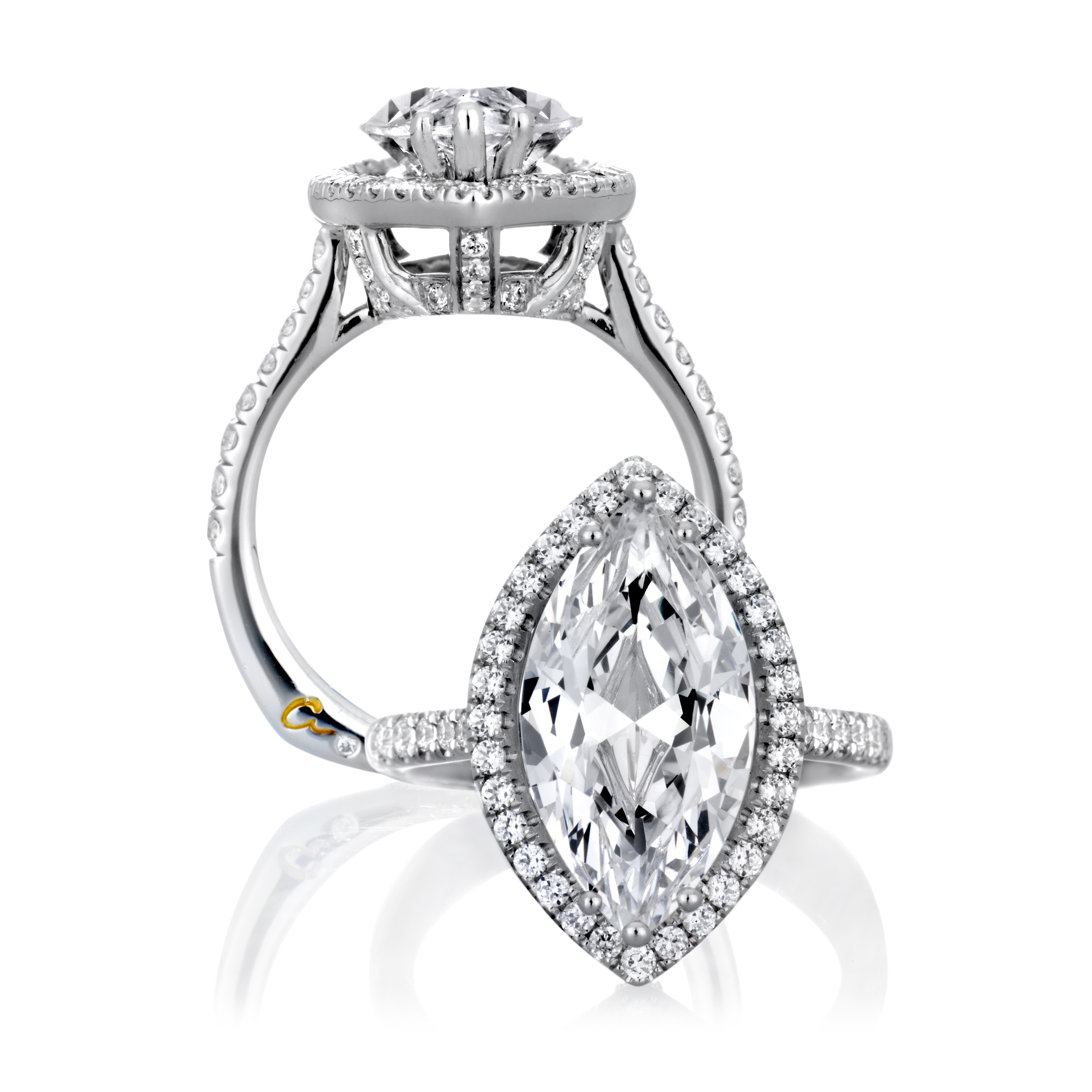 ring fraser rings diamond wedding pin white hart jewellers pear cut carat gold