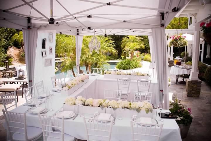Classic White Martha Stewart Inspired Bridal Shower | | The Yes Girls