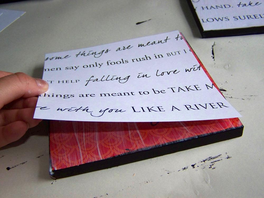 Lyric: Wednesdays For Women: DIY Lyrics On Canvas