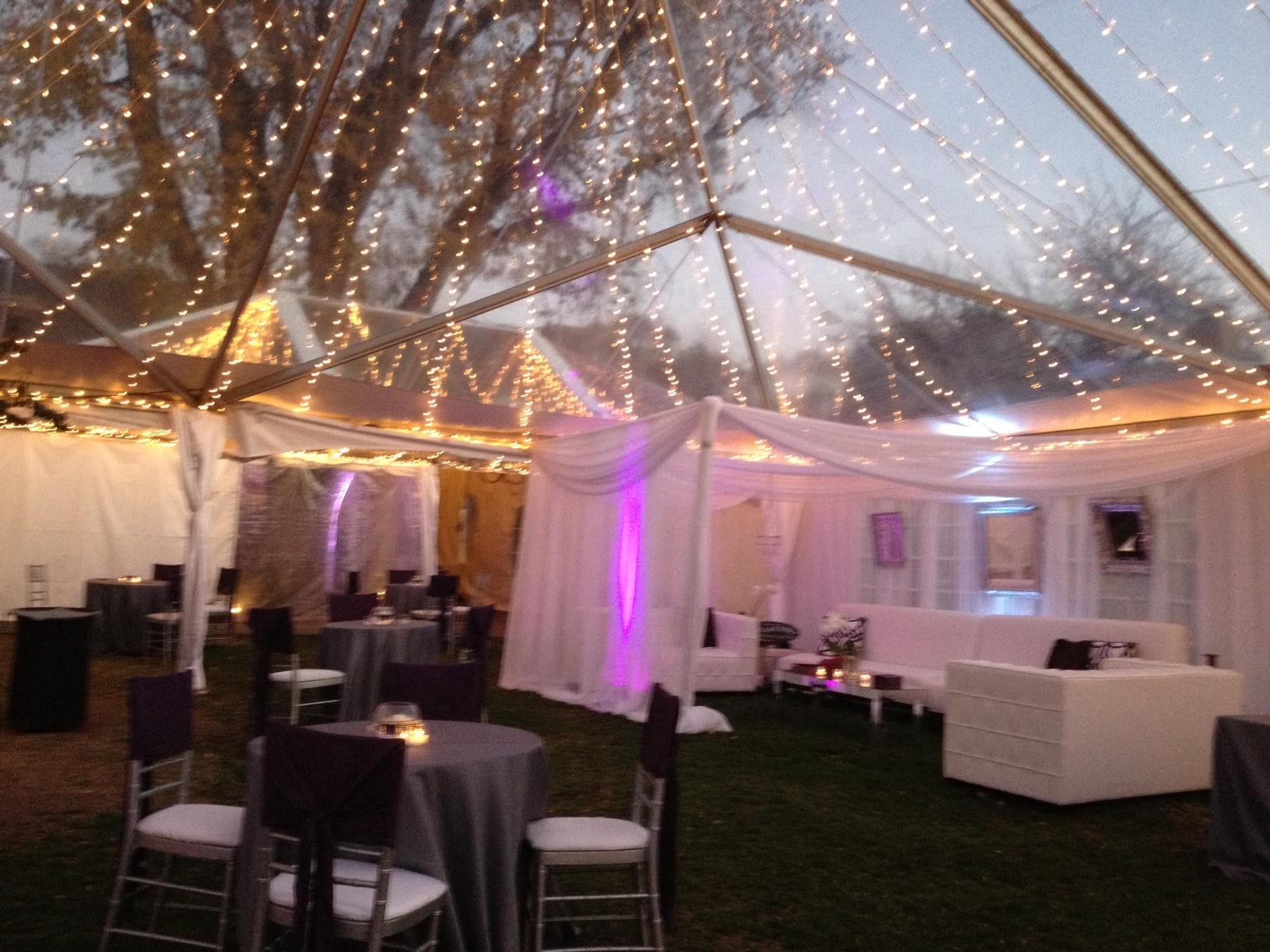 Sneak K Clear Tent Wedding