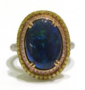 Alan Diamonds Opal Ring