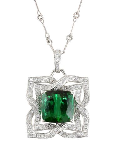 Frederic Sage Green Emerald Necklace