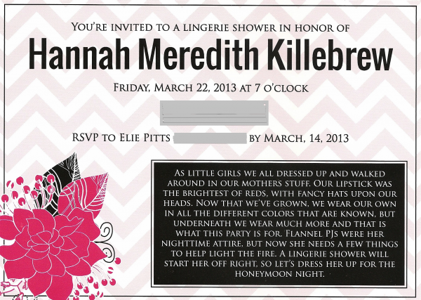 Shower Invites by The Yes Girls