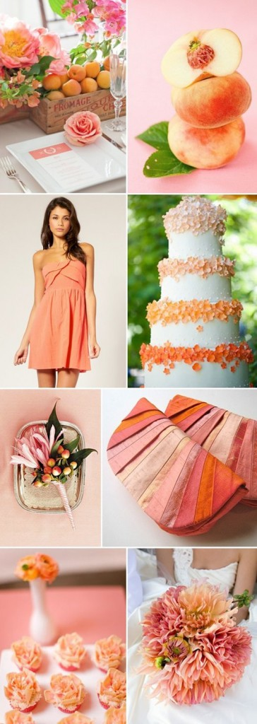 shades of coral wedding pinterest