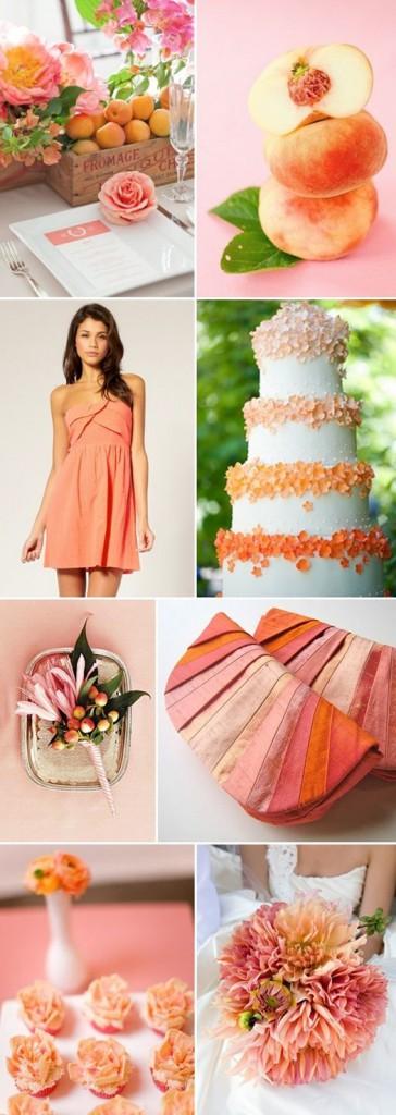 shades of coral wedding pinterest