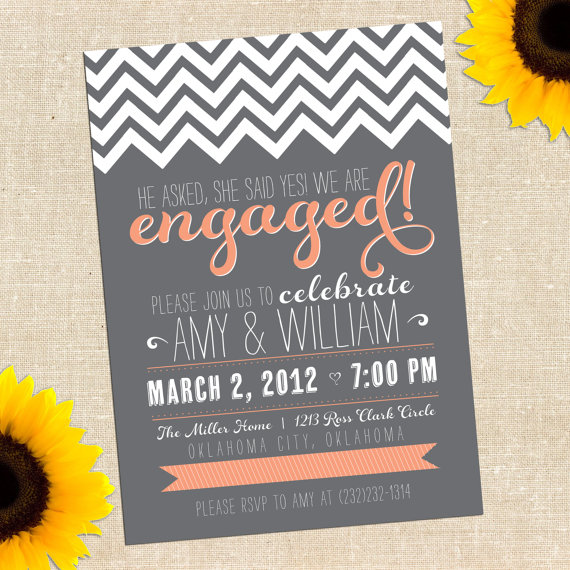 Adorable Vow Renewal and Engagement Party Invitations – Engagement Party Invitations Etsy