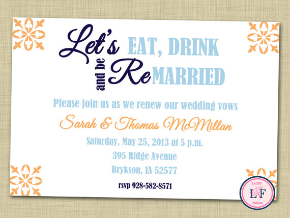 Adorable Vow Renewal And Engagement Party Invitations The Yes Girls