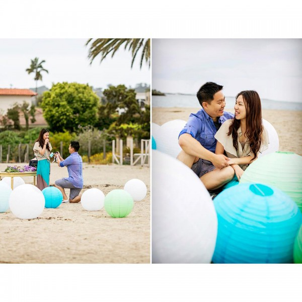 san diego beach proposal, the yes girls events, chard photo