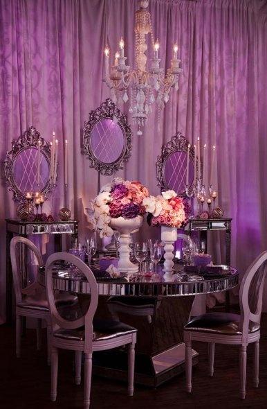 princess table setting wedding