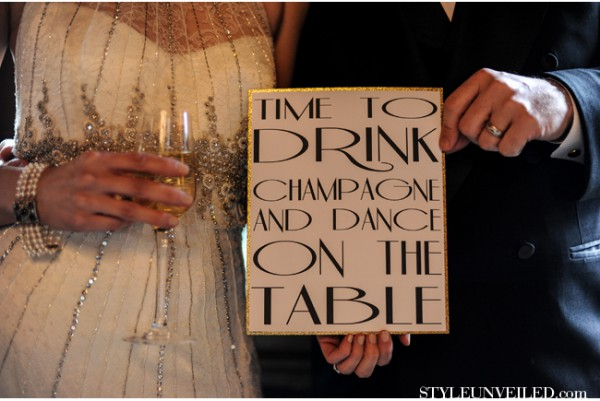 1920s great gatsby party ideas wedding proposals event decor pinterest wall decor signs